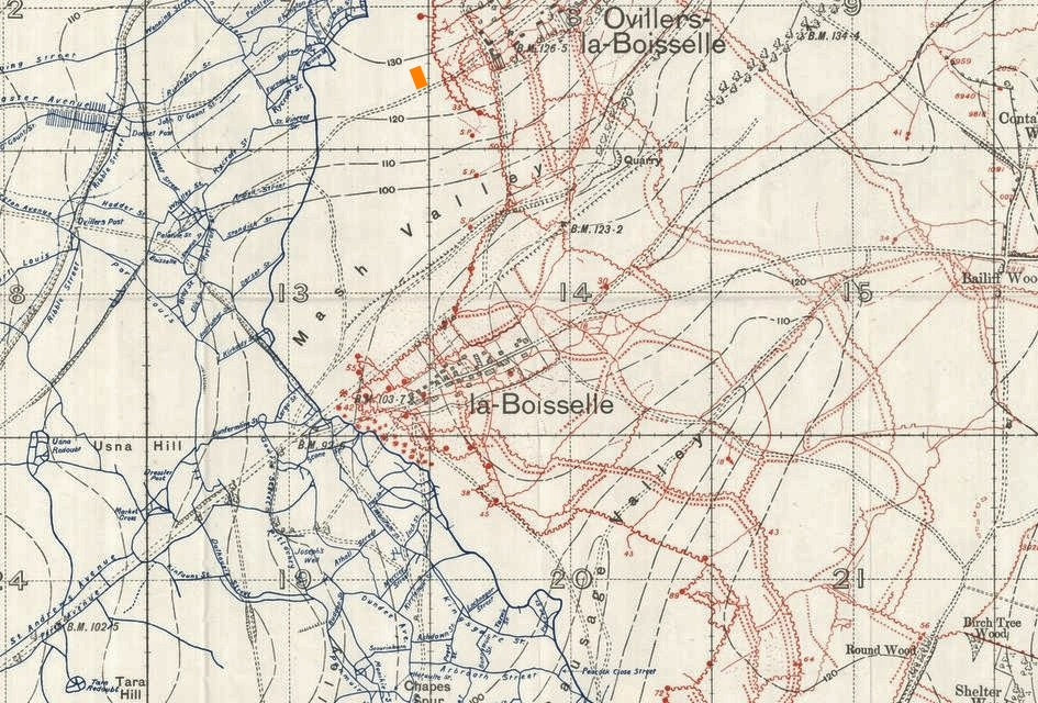 La Boisselle Trench Map