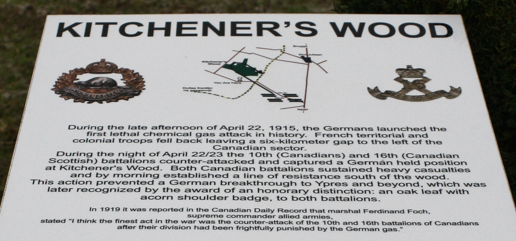 Kitchener\'s Wood Memorial   With the British Army in Flanders & France